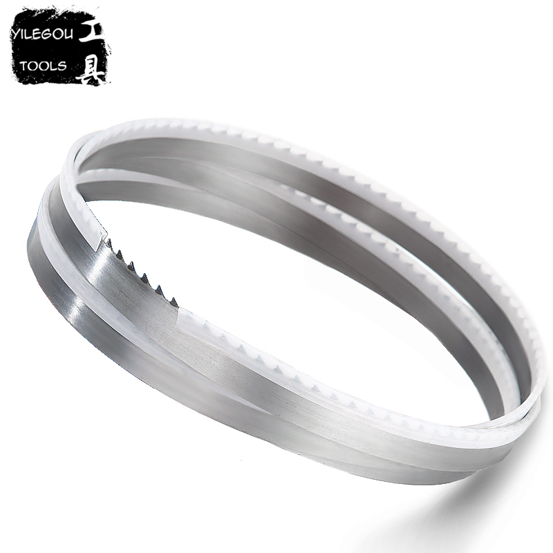 2 Pieces 1712mm Woodworking Band Saw Blades 1712*13*0.55mm*4Tpi Saw Blades 13*0.55*1712mm*4 Teeth Saw Blades Cuttting Wood