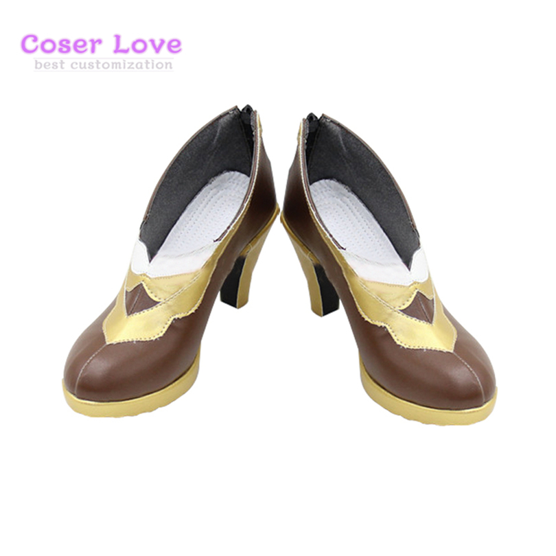 Fate Grand Order Caster Leonardo da Vinci Cosplay Carnaval Shoes Boots Halloween Christmas Shoes