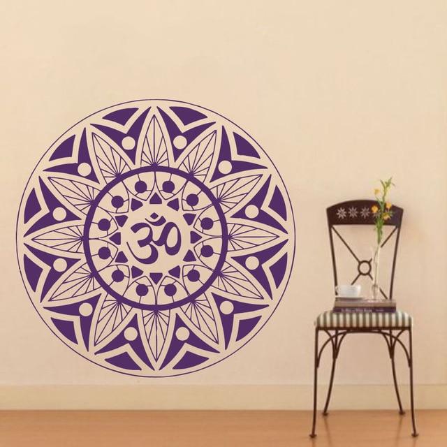 Pinturas Murais Big Mandala Vinyl Wandtattoo Yoga Aufkleber Menhdi - Wohnkultur - Foto 1