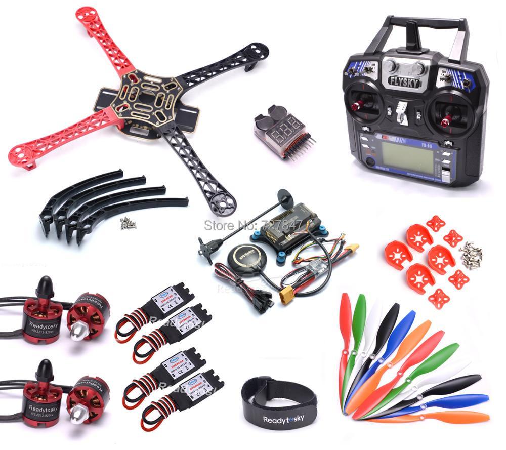 F450 450mm Quadcopter Frame Kit w/ APM2.8 Controller board M8N GPS 30A Simonk esc 2212 920kv Flysky i6 f450 quadcopter frame kit 2212 1000kv brushless motor 30a esc 1045 propeller apm 2 6 2 5 2 8 led bec cc3d evo flight controller