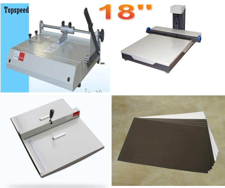 18inch Photo Book Making Machines Package Flush Wedding Album Restaurant Menus Book Binding Machine 12inch photobook making machines package flush mount album maker restaurant menu binding machine combo kits