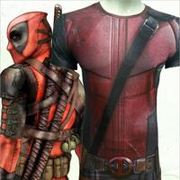 Mens Compression Tights Brand skinny Pant High Elastic Sweater clothing 3d print Deadpool cosplay fitnes oversize tops t shirt