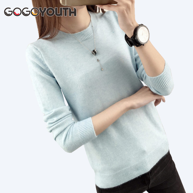652ec317f3 Gogoyouth Winter Sweater Women 2018 Autumn Tricot Jumper Long Sleeve Ladies  Pullover Female Knitted Jersey Pull Femme Winter Top