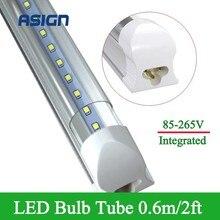 1pcs LED Bulbs Tubes T8 2ft 10W Integrated Led Tubes T8 48LEDs SMD2835 Super Bright 1000lm