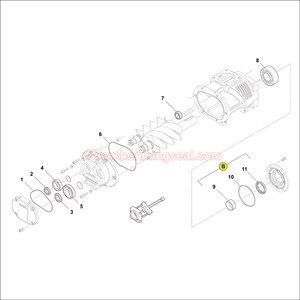 Image 2 - Rotorcomp EVO9/EVO9 NK 나사 압축기 에어 엔드 수리 키트 샤프트 씰링 링 및 내부 링 및 O 링 3 개 키트 부품 번호 89013