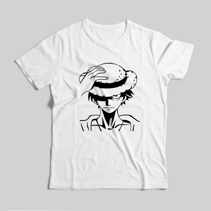 2018 New Summer Anime One Piece Luffy t shirt 100% Cotton High Quality Raglan Men t-shirt Casual Loose Fit Top Tees For Fans