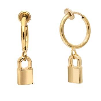 Круглые круглые массивные серьги-кольца серебряные золотые серьги большие кольца серьги с замком большие висячие серьги ювелирные изделия для женщин