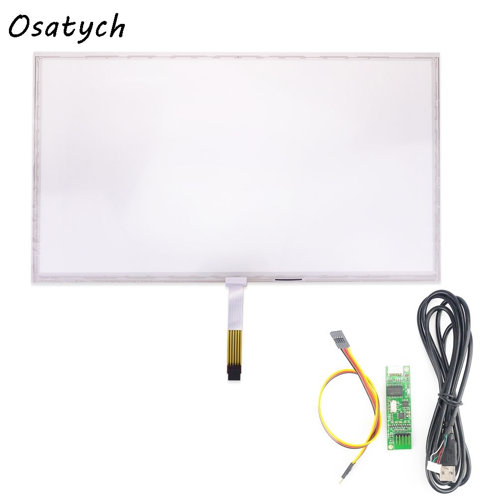 18.5 Inch 5Wire Resistive Touch Screen Panel 429x253 mm USB Kit For 18.5 Monitor 16:10 17inch resistive touch screen panel 382 2x239 5mm 5wire usb driver board kit for 17 monitor