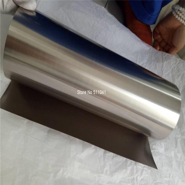 Feuille de titane pour poêles, feuille de titane Grade 2 recuit 0.125mm d'épaisseur x 300mm de large, 1 kg en gros, livraison gratuite - 3