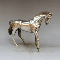 Crafts statue Seiko brass feng shui ornaments thousands of miles horse male horse white horse horse