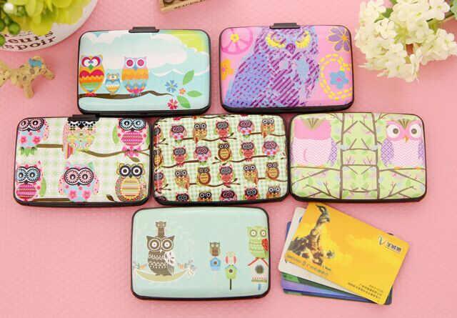 Kawaii Novidade 6 Modelos CORUJA-11*7.5 CM Projeto do Órgão-SACO Titular Cartões de Plástico Caso; BUS & ID Cartões Carteira Bolsa Case BAG Bolsa
