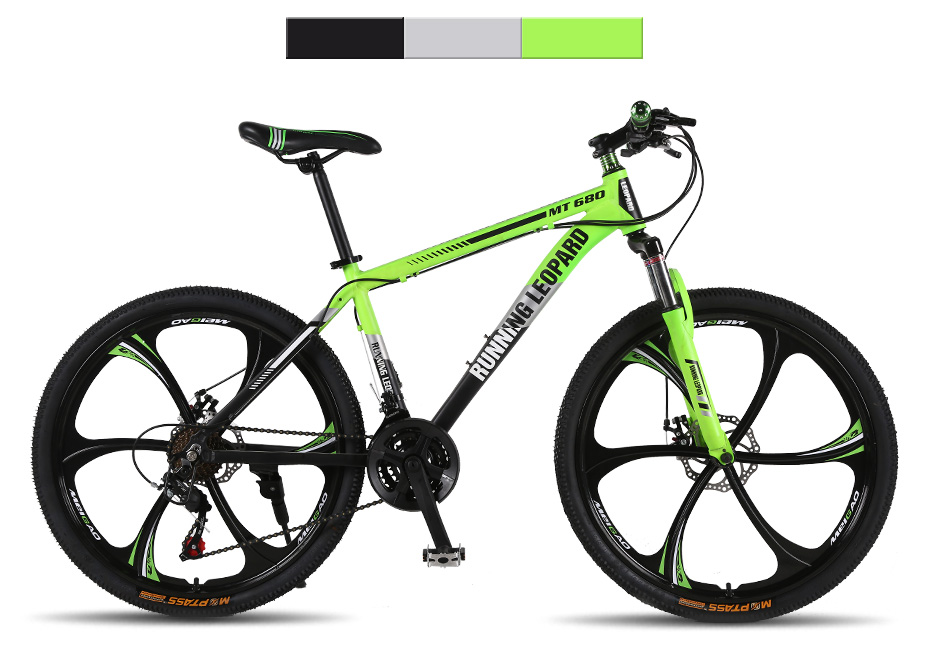 HTB1IW8iXELrK1Rjy0Fjq6zYXFXak Running Leopard mountain bike 26-inch steel 21-speed bikes double disc brakes variable speed road bikes racing bike