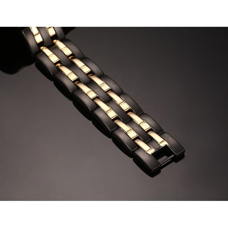 Rainso Kesehatan Magnetic Gelang Mens Rantai Tangan Gelang Hitam - Perhiasan fashion - Foto 3