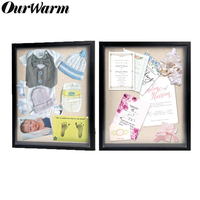 OurWarm Shadow Boxes DIY Wooden Box for Souvenirs Display Box Birthday Baby Shower Wedding Party Favor Scrapbooking Photo Frame
