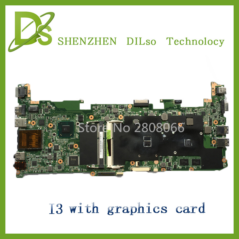 For ASUS U36SD Laptop motherboard U36SD mainboard REV2.1 i3 cpu onboard 100% tested