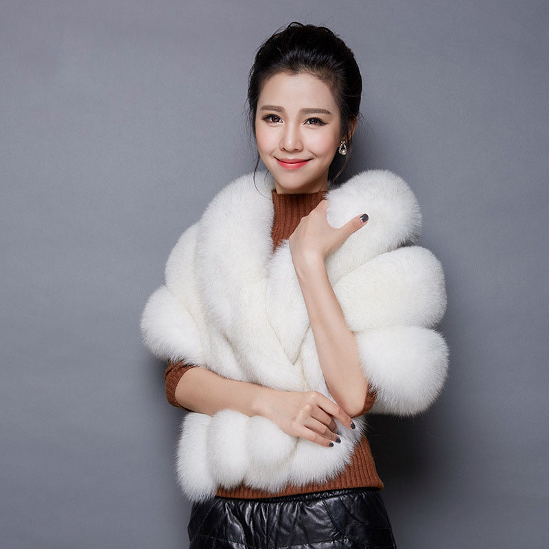 White Fur Stole >> 2016 Bridal Shawl Fur Stole Faux Fur Wrap Wedding Winter Cape