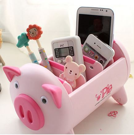 Creative Cute Pig Housing Cartoon Office Supplies Storage Box Life A Little Creativity