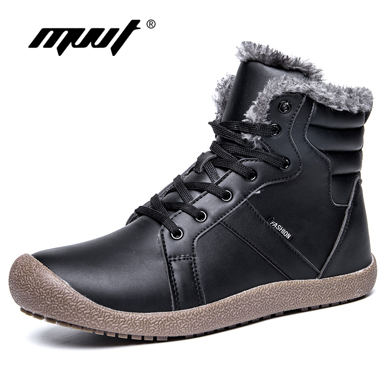Plus Size 48 Quality Men Boots With Fur Keep Warm Winter Snow Boots Waterproof Ankle Boots Short Plus Men Footwear Winter Shoes mvvt super warm winter men boots snow boots with fur keep warm platform men winter snow shoes waterproof ankle boots