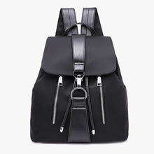 Casual Lady  Mochilas Corea Estilo Marca Diseno Negro Viaje Backpack Casual Wild Oxford Cloth Waterproof Femenino Backpack