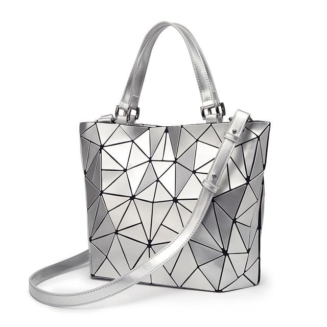 2018 Bao Bao bag Women PU sac baobao Bag Diamond Tote Geometry Quilted  Shoulder Bags Laser 8cc448250e726