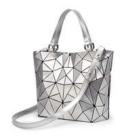 2018 Bao Bao Bag Women PU Sac Baobao Bag Diamond Tote Geometry Quilted Shoulder Bags Laser