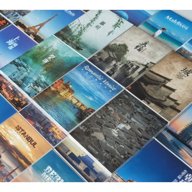 30 Sheets/Set Take A Trip To China Paper Postcard Greeting Card City HD Photography Postcard