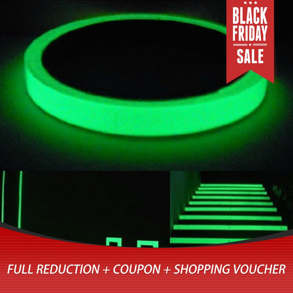 3M *15mm Reflective Tape Glow In The Dark Tape Self-adhesive Night Vision Luminous Tapes Warning Tape Stickers For Decoration