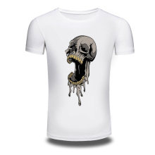 DY-203 Punk Style T Shirts O-Neck Skull Printed Hiphop Summer T Shirt Young Tops Mens t shirts Fashion 2016