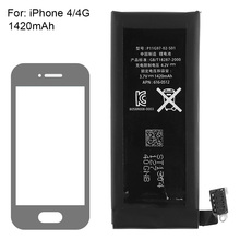 Genuine Replacement Lithium Polymer Battery 3.7V 1420mAh for Apple iPhone 4 4G + Tools Kit Batterie Batterij Bateria