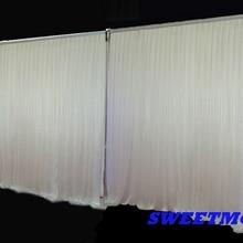 3x6 м Свадебные трубы и драпировка белый полнота занавес с фоновой подставкой комплект