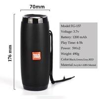 Tg 157 LED Bluetooth Speaker 10W Bluetooth Portable Sound Box HIFI Stereo PC Wireless Column FM Radio USB Subwoofer For HUAWEI
