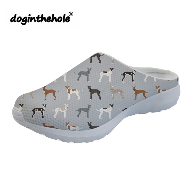 doginthehole Outdoor Sport Sandals Womens Clogs Italian Greyhound Printed Summer Beach Shoes for Women 2019 Lightweight Slippers