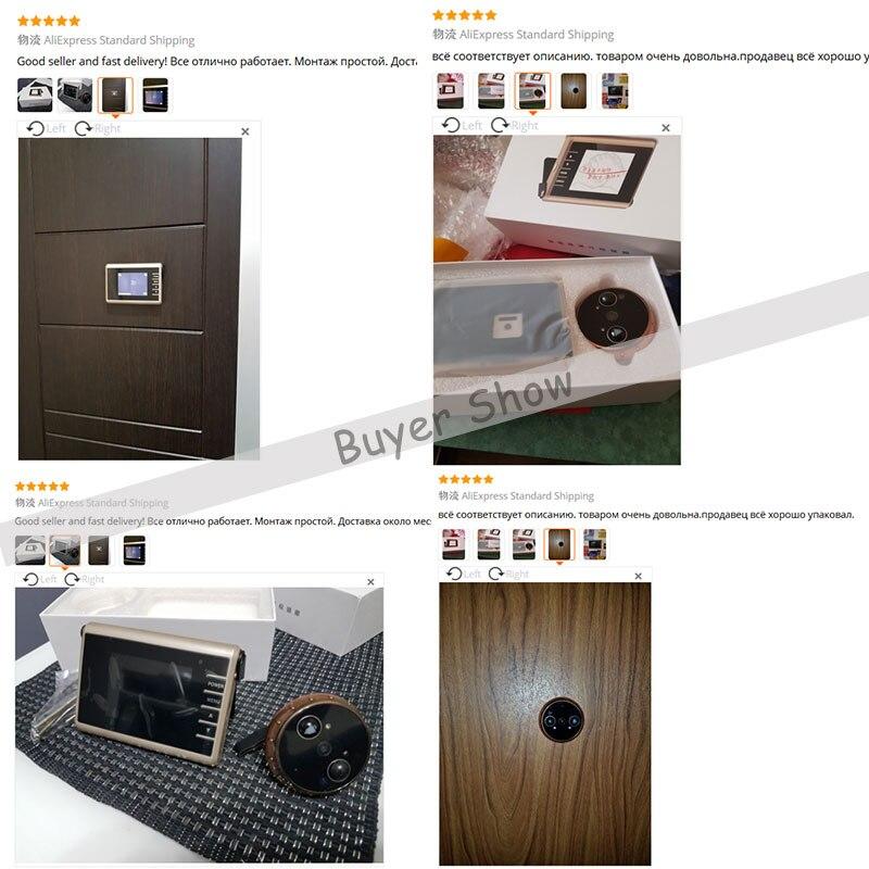 HD écran coloré Auto Vidéo Enregistrement Intelligent Porte caméra masquée PIR détecteur de mouvement Intelligent Judas Sonnette Vidéo Porte Caméra - 6