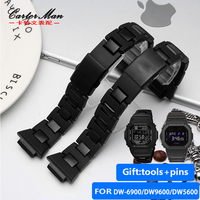 high quality Resin watchband for Casio G SHOCK DW 6900/DW9600/DW5600//GW M5610 with stainless steel buckle watch belt
