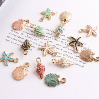 Cute Colorful Conch Sea Shell Charms Ocean Pendants Making Handmade Accessories