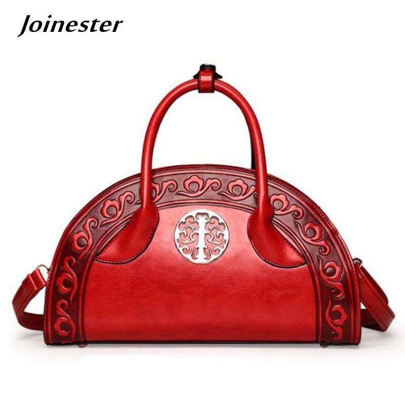 2019 printemps femmes sac à main Vintage gaufrage sacs à bandoulière pour femme sac à bandoulière chinois rouge sac Messenger cabas décontracté pour femme