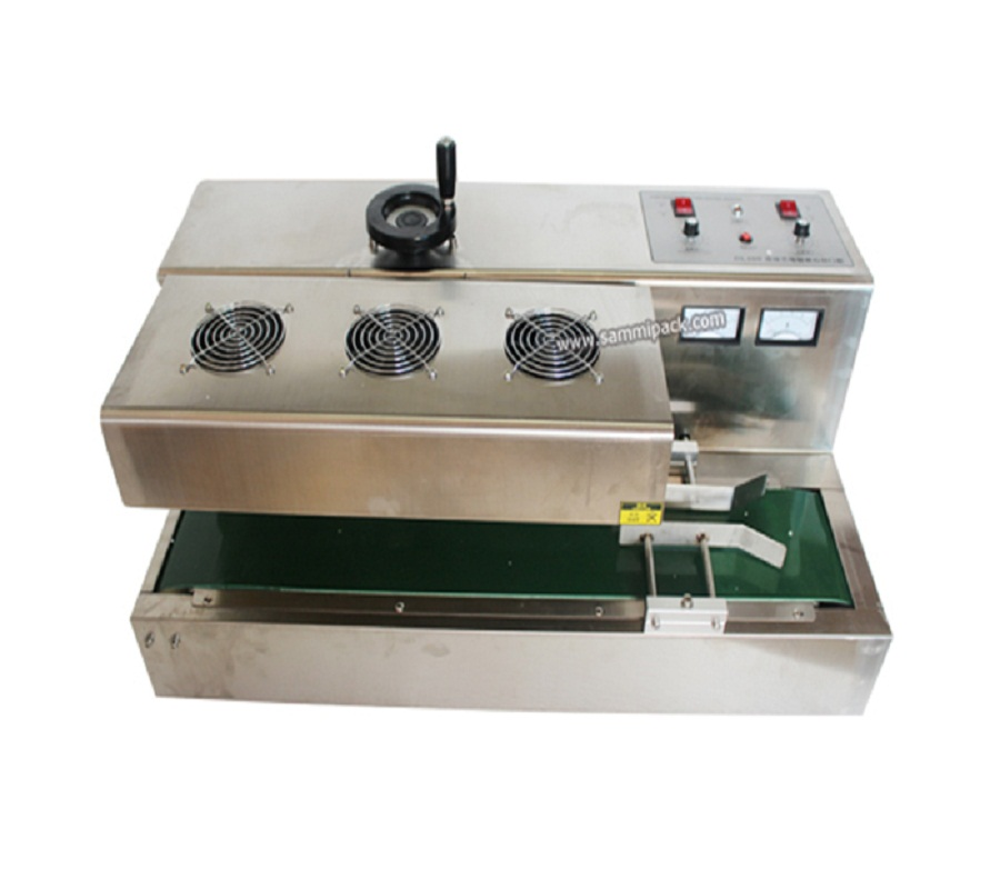 continuous glass bottles induction sealing machine