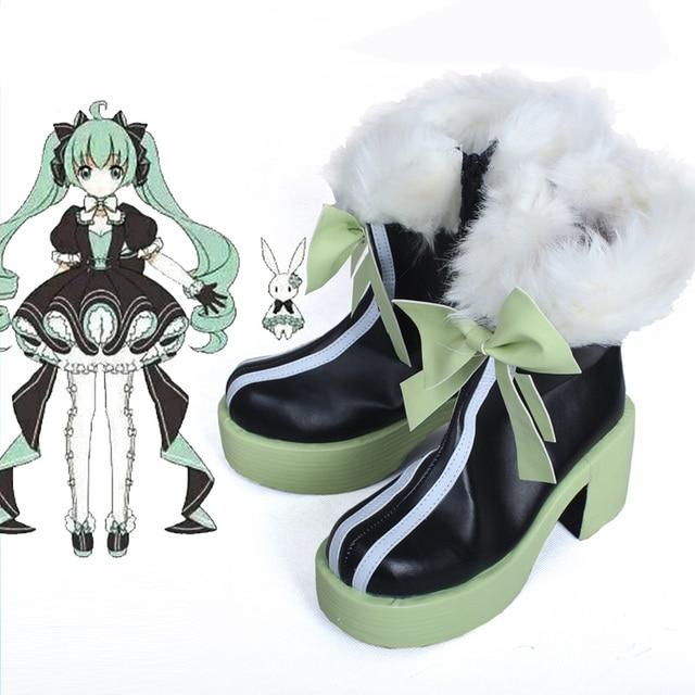 Anime Vocaloid Miku 39 Botas Traje Cosplay Kawaii Traje Do Coelho Sapatos Quentes Custom Made Nova