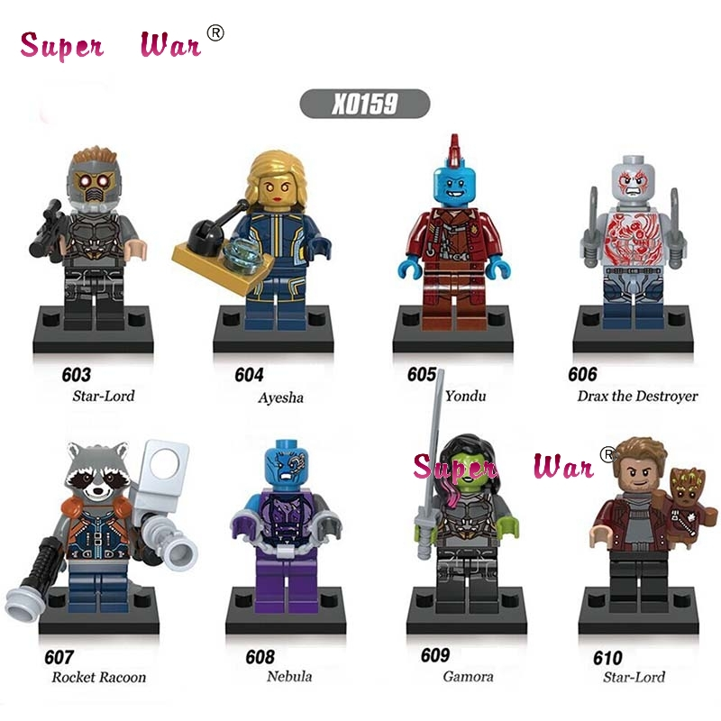 80pcs building blocks 2017 Guardians of the Galaxy Vol. 2 Star-Lord Gamora Destroyer Nebula Yondu bricks for children toys