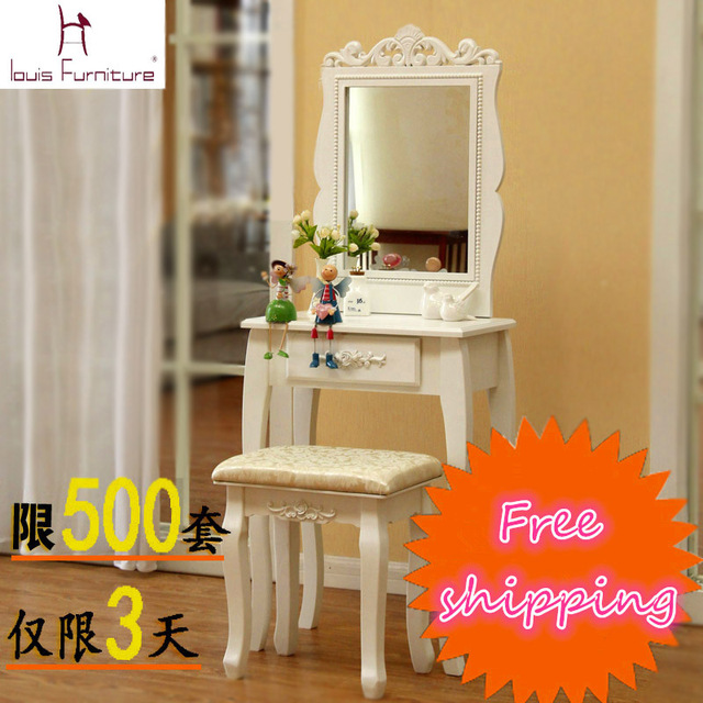 Louis Fashion Single drawer dresser dressing table bedroom vanity ...
