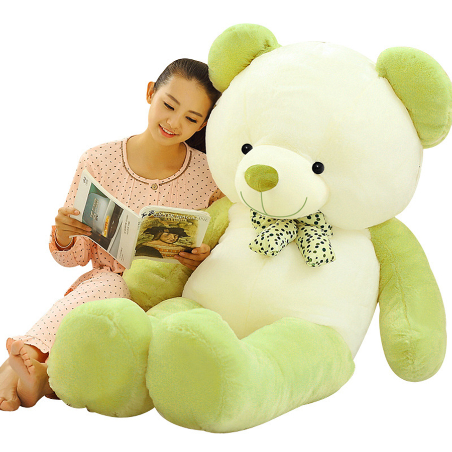 2018 Hot Sale 60cm Kwaii Giant Green Plush Teddy Bear Toy Big Bears Soft Toy Stuffed Animals Doll Toys For Children 50T0368 fancytrader new style giant plush stuffed kids toys lovely rubber duck 39 100cm yellow rubber duck free shipping ft90122