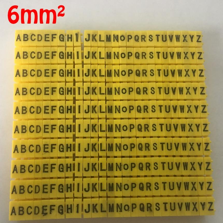 260pcs/Lot A-Z ABCDEFGHIJKLMNOPQRSTUVWXYZ English Letter 6mm2 M CAT 6 Clip Network Ethernet Wire Number Label Tube Cable Marker 1200pcs ec 0 1 5mm2 arabic numeral 1 6 letter pattern pvc flexible print sleeve concave tube label wire cable marker