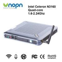 Мини-ПК Intel Celeron N3160 четырехъядерный 1,6-2,24 ГГц настольные компьютеры 1000 Мбит/с WIFI Windows/Linux Voice Classroom Computer