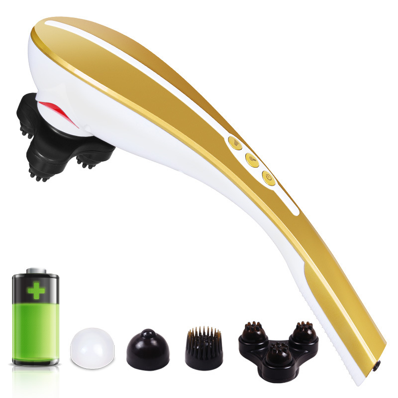 Wireless rechargeable massage stick cervical vertebra massager electric multifunctional neck massager infrared back massage handheld electric head neck lumbar back live dolphins massager acupuncture point massage stick am45
