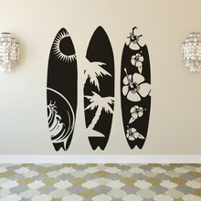 Large Size Surfboard Wall Decal Water Sports Sticker Modern Design Walllpaper Removable Vinyl Sea Decals AY1746