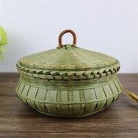 Handmade Bamboo Egg Fruit Storage Basket Panier Osier Weaving Kitchen Wicker Basket Belly Storage Toys New kids laundry baskets