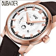 Luxury Brand Men's Business Stainless Steel Leather Quartz Wrist Watch Fashion Men Commerce Watches Male Sport Wristwatch Clock