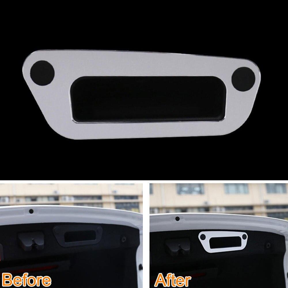 Aluminium Car Rear Trunk Tail Gate Handle Cover Trim Stripe Frame Decoration For Benz C180 C200 C300 C350 C400 W205 2015-2016