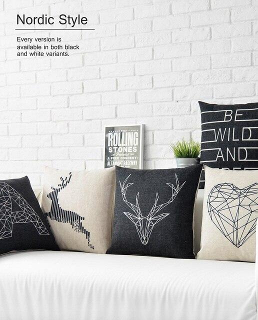 Elch Kissen nordic stil zu hause kissen cutom kissen schwarz und weiß