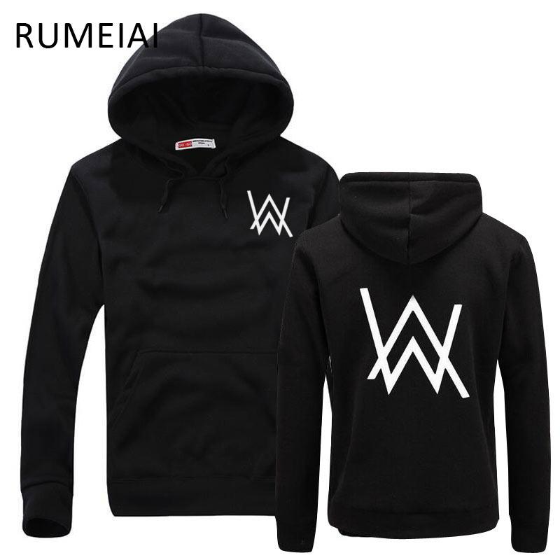 RUMEIAI Mode Homme Sweats Musique DJ Divine Comédie Alan Walker Délavé Manteau Sweats Capuches Hommes Pulls vêtements De Marque